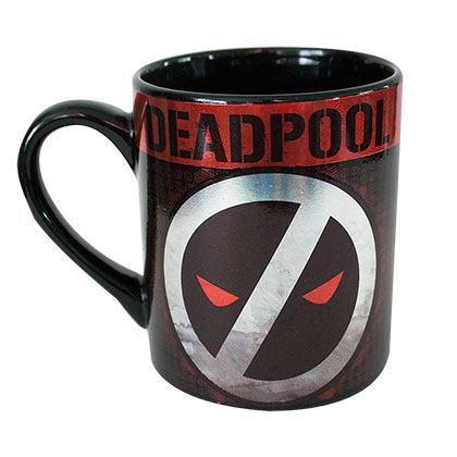 DEADPOOL Logo 14 Ounce Ceramic Metallic Mug