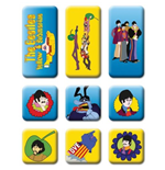 The Beatles Fridge Magnet Set: Yellow Submarine