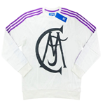 2016-17 Real Madrid Adidas Originals Crew Sweat Top (White)