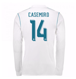 2017-18 Real Madrid Long Sleeve Home Shirt (Casemiro 14)