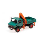 MERCEDES BENZ UNIMOG 1300 L GREEN KIPPER MIT LADEKRAN