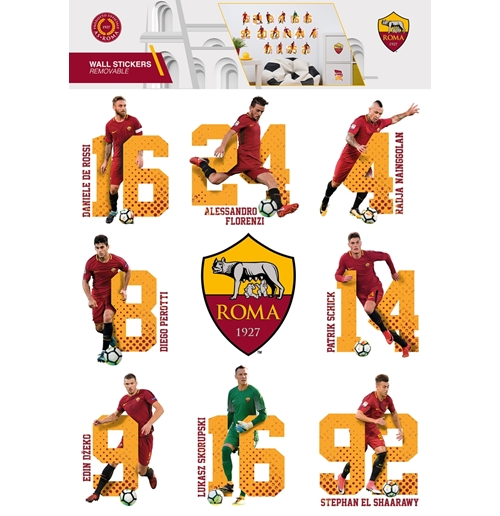 Football wall stickers official merchandise 2018 2019 for Wall stickers roma