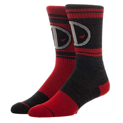 DEADPOOL Logo Color Flipped Men's Crew Socks