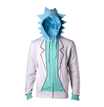 RICK AND MORTY Male Rick Suit Full Length Zipped Hoodie, Small, Multi-colour