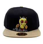 RICK AND MORTY Embroidered Krombopulos Michael Snapback Baseball Cap, Black/Tan