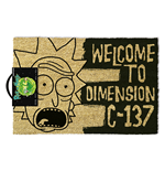 Rick and Morty Doormat (Dimension C-137 Black)