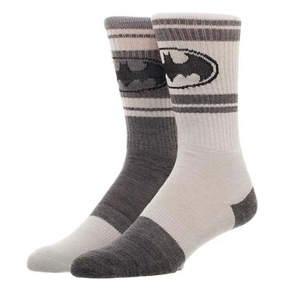 BATMAN Gray Flipped Colors Men's Crew Socks