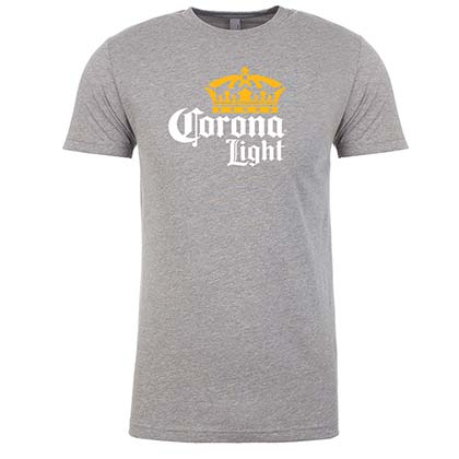 Corona Light Logo Men's Gray TShirt