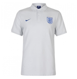 2018-2019 England Nike Core Pique Polo Polo Shirt (Platinum)
