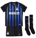 2018-2019 Inter Milan Home Nike Little Boys Mini Kit