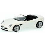 ALFA ROMEO 8C SPIDER WHITE METALLIC