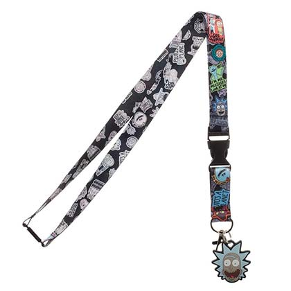 Rick And Morty Characters Lanyard Badge Holder