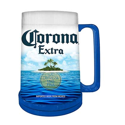 Corona Beach Freezer Plastic Beer Stein Mug 16 Ounces