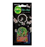 Rick and Morty Metal Keychain Portal 6 cm
