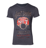 JACK DANIEL'S Male Old Advertising T-Shirt, Large, Grey