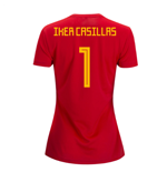 2018-2019 Spain Home Adidas Womens Shirt (Iker Casillas 1)
