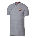 2018-2019 Barcelona Nike Authentic Polo Shirt (Wolf Grey)
