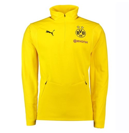 2018-2019 Borussia Dortmund Puma Training Fleece (Yellow)