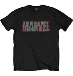 Marvel Comics Men's Tee: Distressed Box Logo