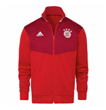 2018-2019 Bayern Munich Adidas 3S Track Top (Red)