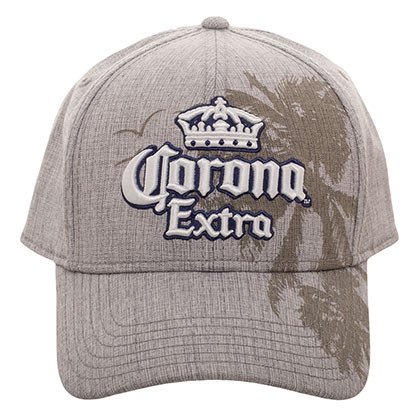 CORONA EXTRA Palms Textured Adjustable Men's Beige Hat