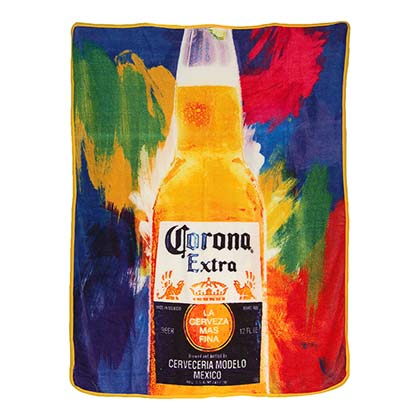 CORONA EXTRA Flashback Colorful 40x60 Fleece Throw Blanket