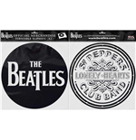 The Beatles Slipmat Set: Drop T Logo & Sgt Pepper Drum