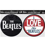 The Beatles Slipmat Set: Drop T Logo & Love