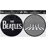 The Beatles Slipmat Set: Drop T Logo & Crossing Silhouette