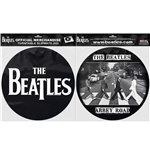 The Beatles Slipmat Set: Drop T Logo & Abbey Road