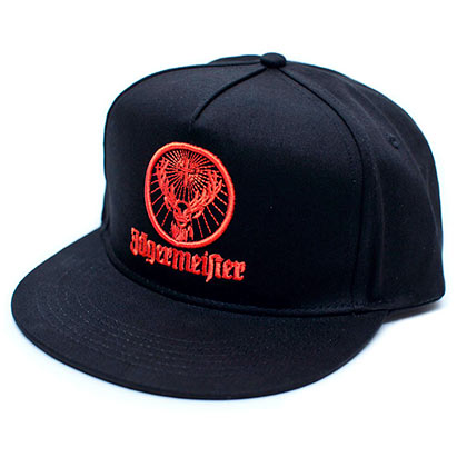 JAGERMEISTER Orange Logo Men's Black Hat