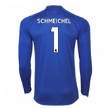 2017-18 Leicester City Home Long Sleeve Shirt (Schmeichel 1)