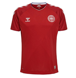 2018-2019 Denmark Home Hummel Football Shirt