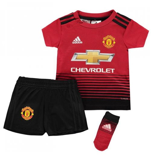 official photos fd677 bc370 2018-2019 Man Utd Adidas Home Baby Kit