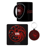 Game of Thrones Mug Coaster and Keychain  - Targaryen