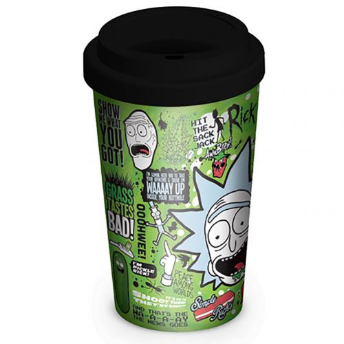 Rick And Morty Ceramic Travel Mug