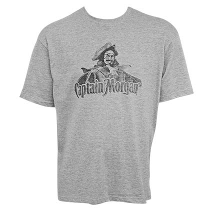 CAPTAIN MORGAN Classic Logo Heather Grey Men's TShirt