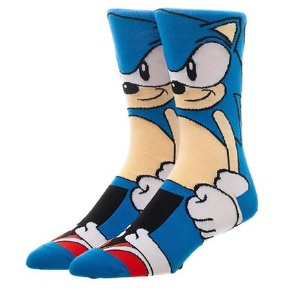 SONIC THE HEDGEHOG 360 Men's Blue Crew Socks