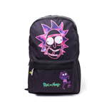 Rick and Morty Backpack - Rick's Face Placement Printed Black