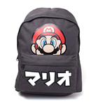 Super Mario Backpack - Japanese Text Placed Printed Black