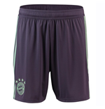 2018-2019 Bayern Munich Adidas Away Shorts (Purple) - Kids