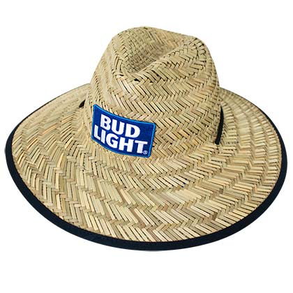 BUD LIGHT Beer Straw Life Guard Hat