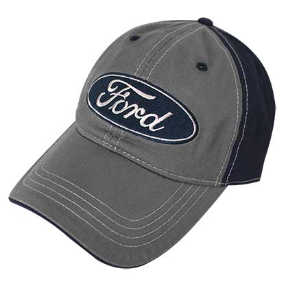 Ford Car Embroidered Logo Grey Men's Hat