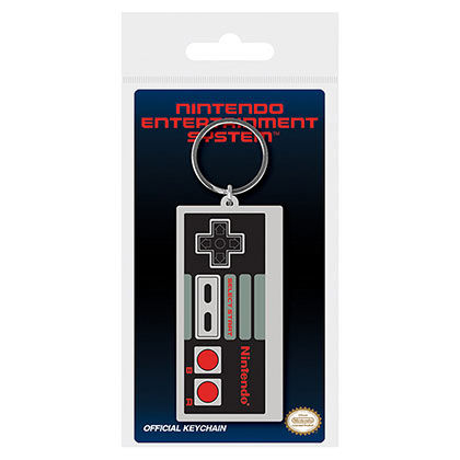 NINTENDO Classic NES Controller Grey Rubber Keychain