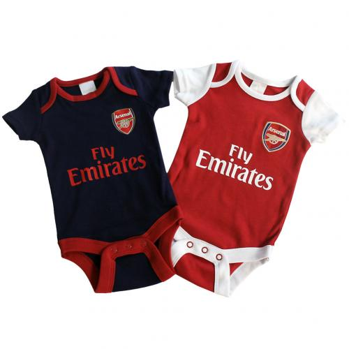 Arsenal F.C. 2 Pack Bodysuit 0/3 mths NR