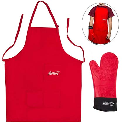 BUDWEISER Apron And Mitt BBQ Grilling Set