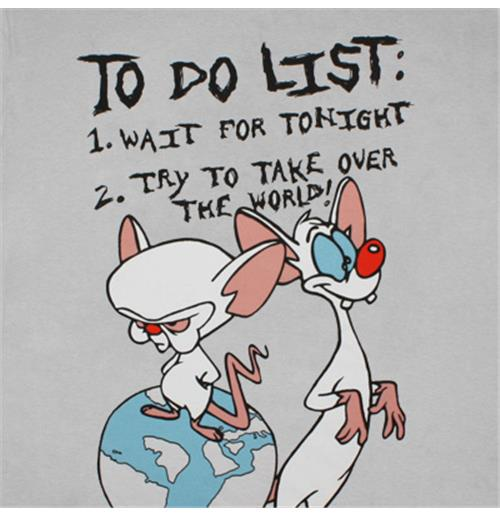 Buy Official Animaniacs Pinky And Brain To Do List T Shirt