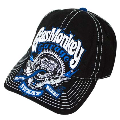 GAS MONKEY GARAGE Contrast Stitch Men's Black Hat