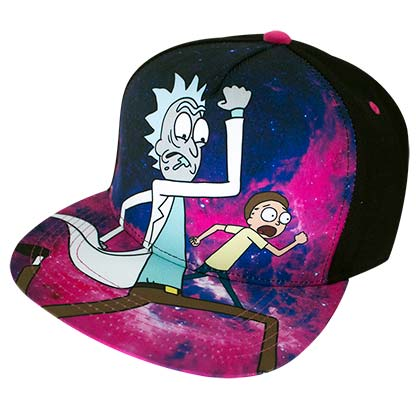 Rick And Morty Cartoon Network Full Color Men's Hat Cap