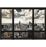 New York Window Poster (100X140 Cm)